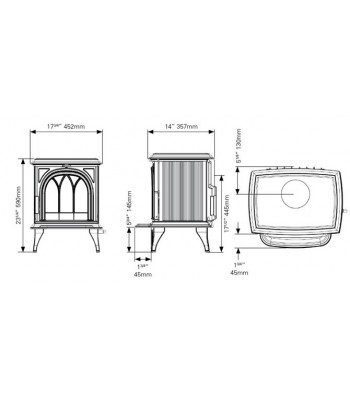 Huntingdon 25 Multifuel Stove